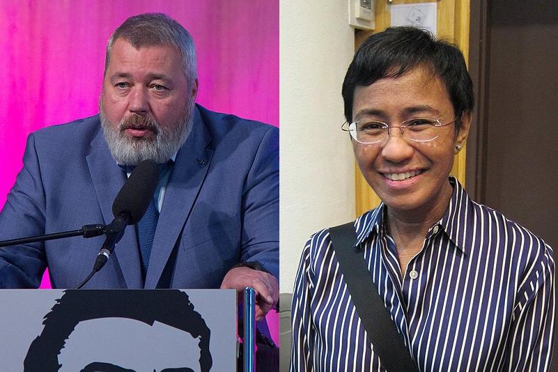 دو خبرنگار، برندگان امسال جایزه صلح نوبل